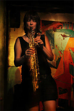Ingrid Laubrock soprano and tenor saxophone